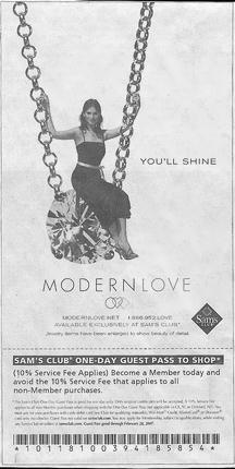 Advertisement: Diamonds–at Sam's Club